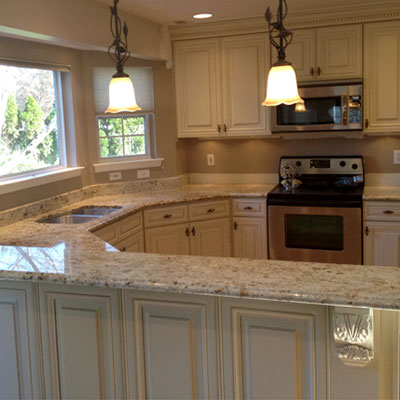 Large Selection of Custom Cabinets around Cherry Hill NJ - countertop-callout-colonial-cream