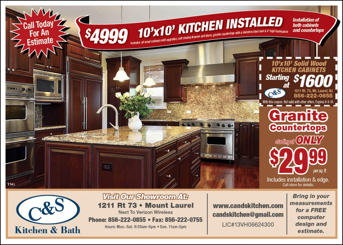 Cabinet U0026 Countertop Installation Coupons Mt. Laurel NJ | Cu0026S Kitchen And  Bath   Clipper_ad
